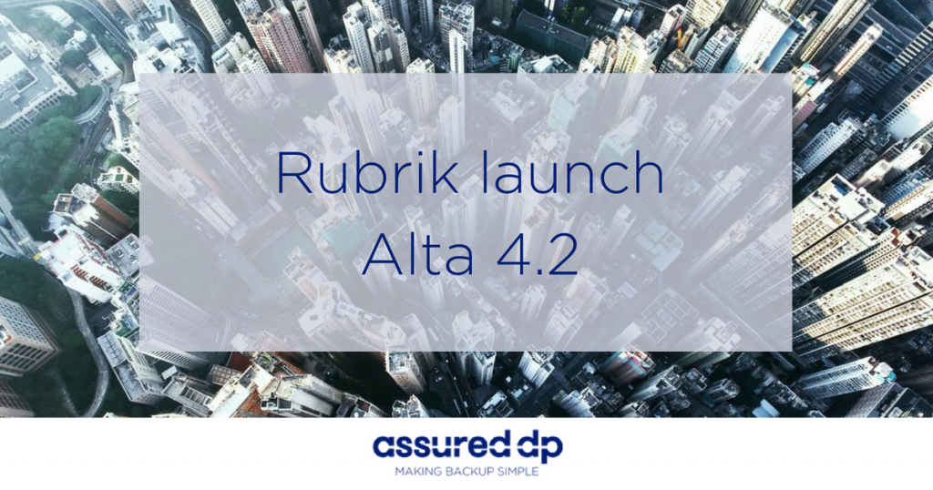 Rubrik Alta 4.2